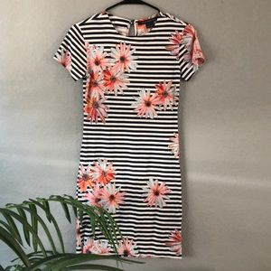 French Connection Floral Striped Dress